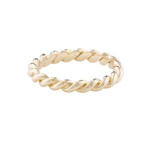 Rope stack ring yellow gold
