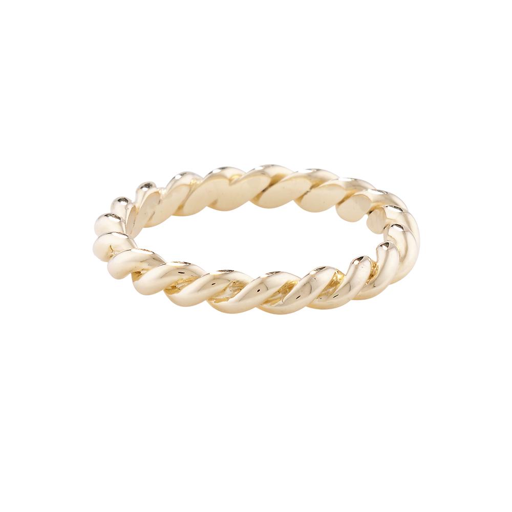 Designer Yellow Gold Rope Stack Ring
