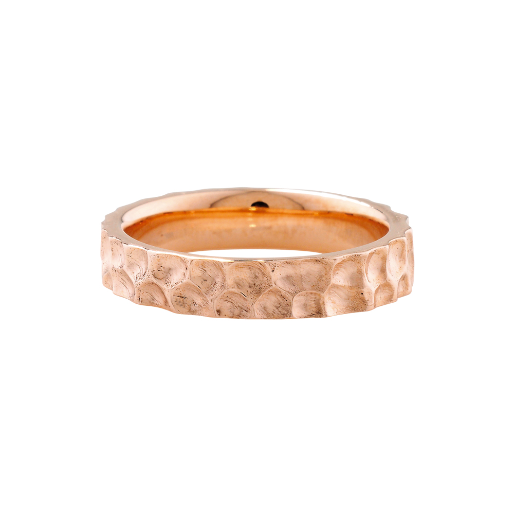 Hammered ring rose gold