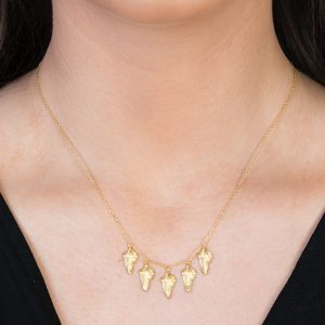 Yellow Gold Kew Leaf Necklace