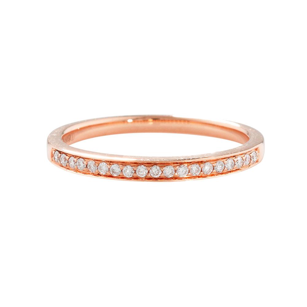 Bespoke Diamond Grain Set Rose Gold Eternity Ring