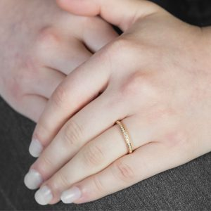 Diamond Grain Set Rose Gold Eternity Ring