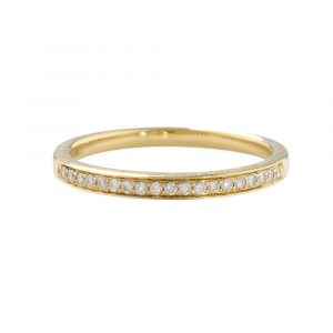 Yellow Gold Diamond Eternity Half Band Ring