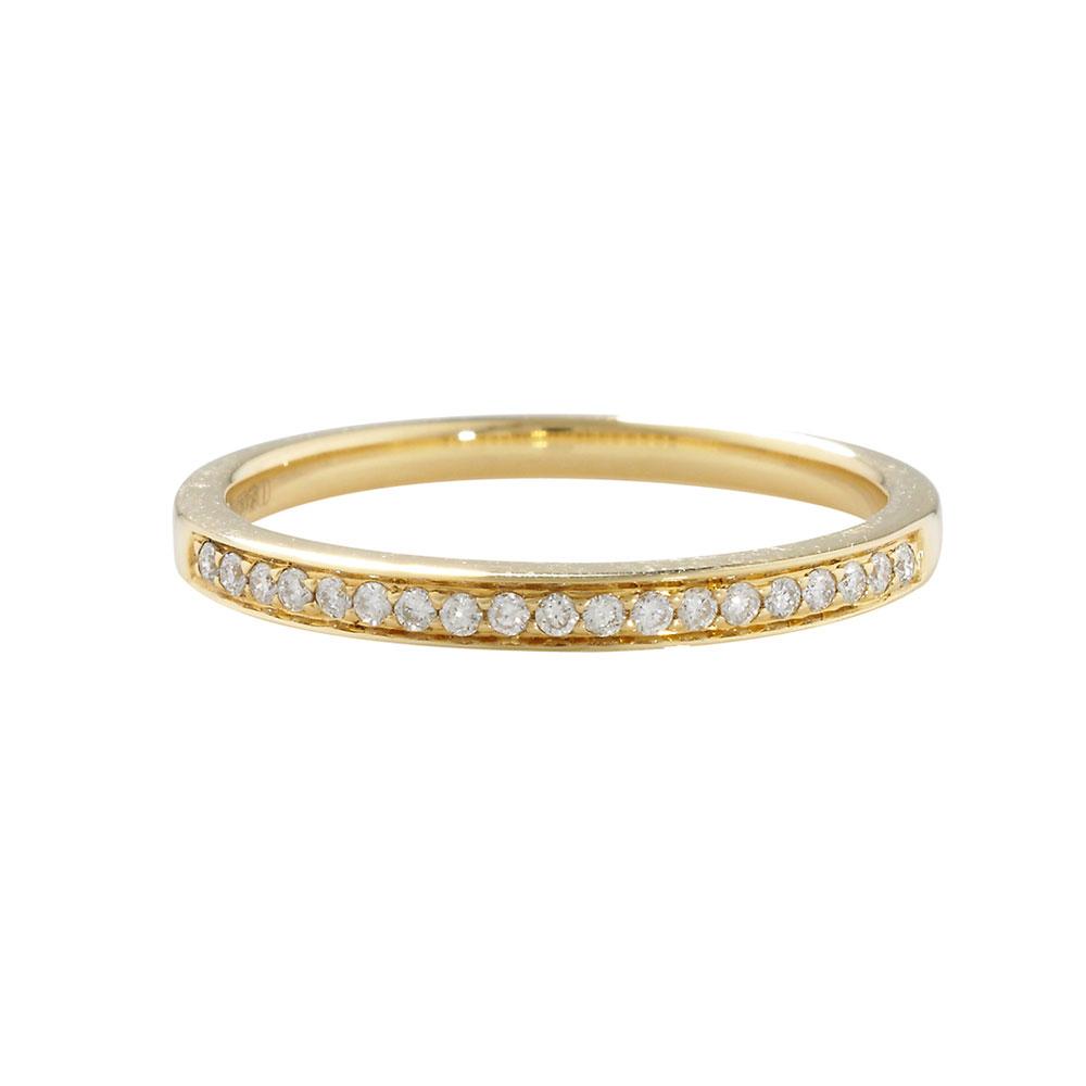 Yellow Gold Diamond Eternity Half Band Ring