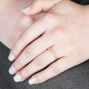 Diamond Grain Set Yellow Gold Eternity Ring