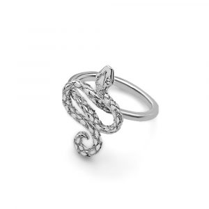 Serpent snake ring silver
