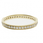 Diamond full eternity ring yellow gold
