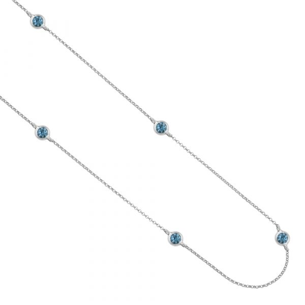 Aquamarine necklace white gold
