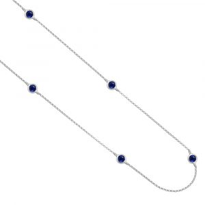 Sapphire necklace white gold