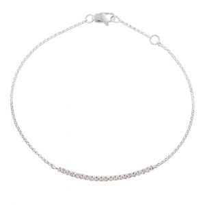 White gold diamond bar Geo bracelet