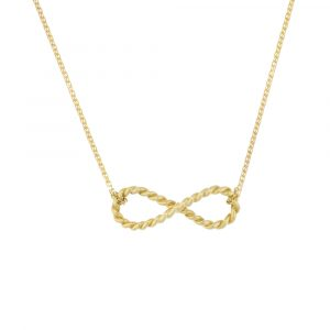 Infinity pendant yellow gold