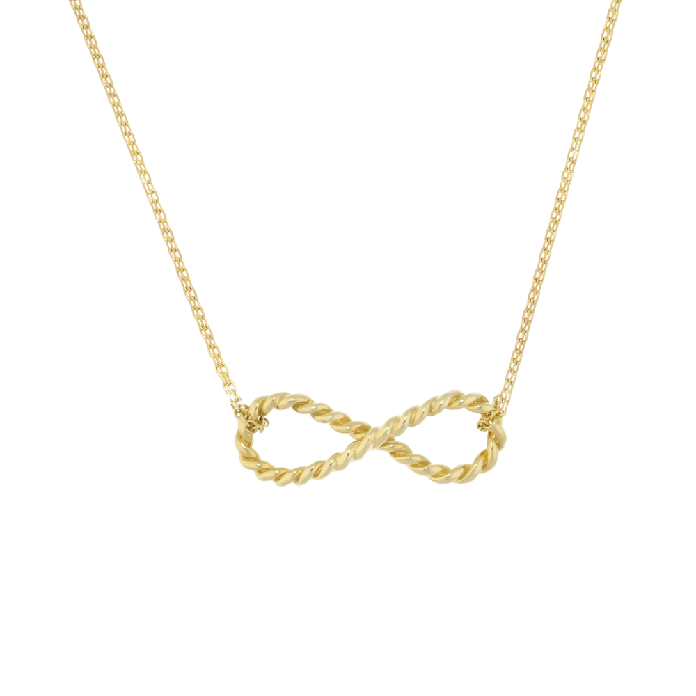Stylish Yellow Gold Carnaby Infinity Necklace