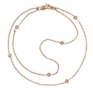 Diamond bracelet rose gold