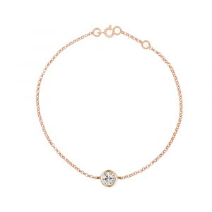 Rose gold diamond solitaire Raindrop bracelet