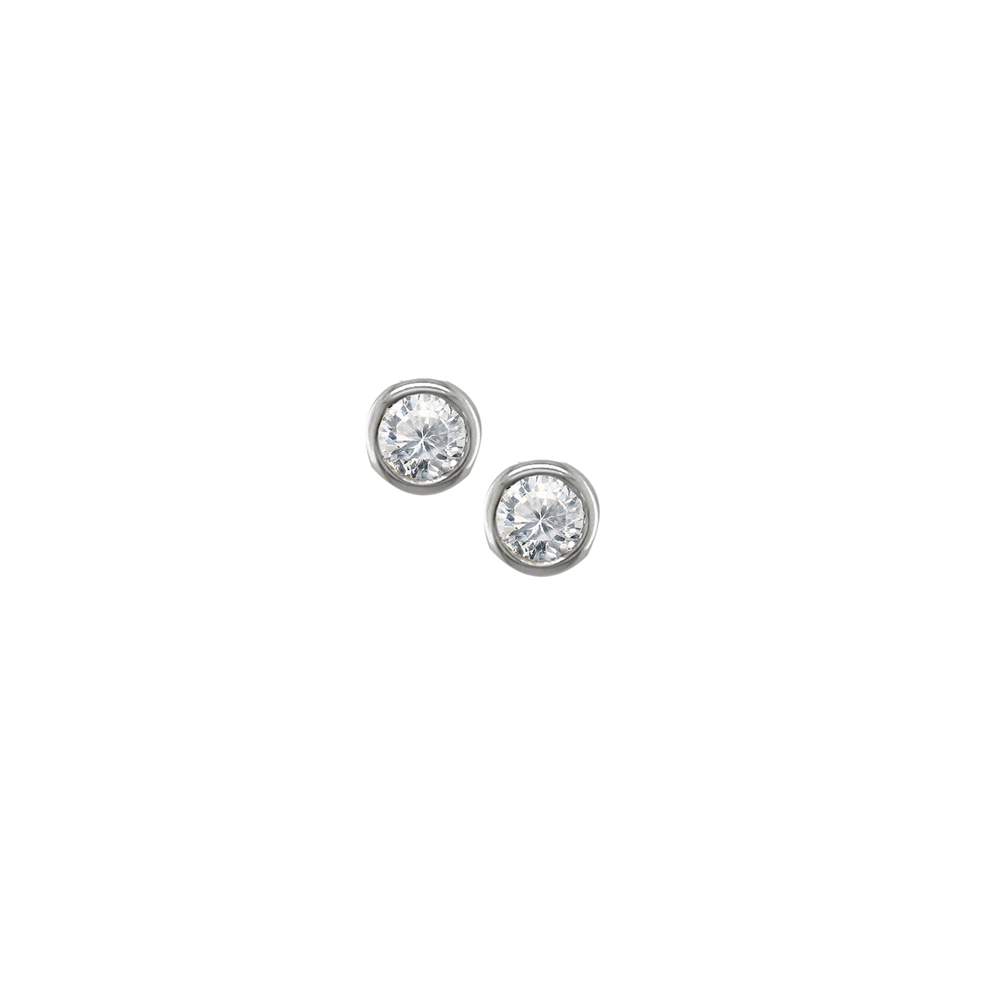 Diamond stud earrings white gold