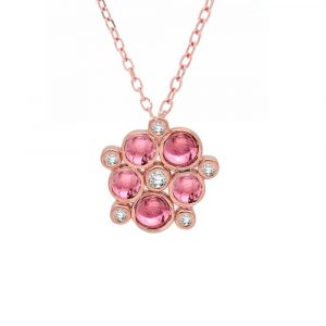 Rose gold Tourmaline Diamond Necklace
