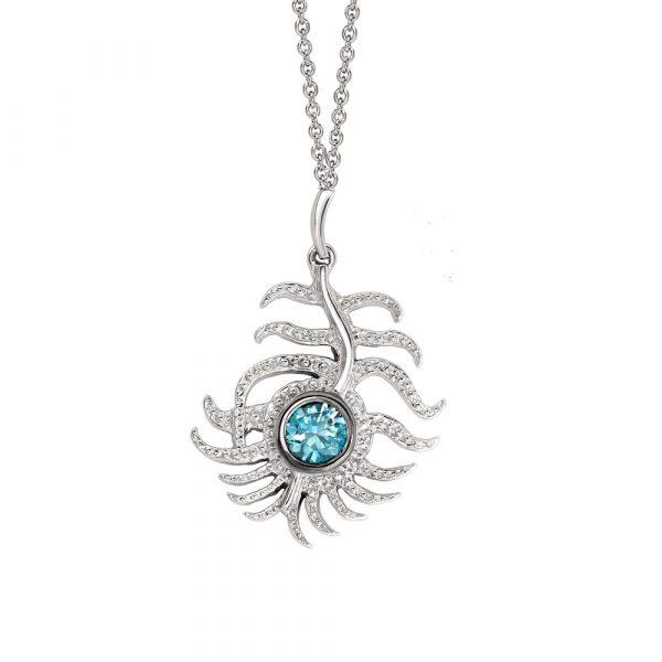 Blue Peacock Pendant