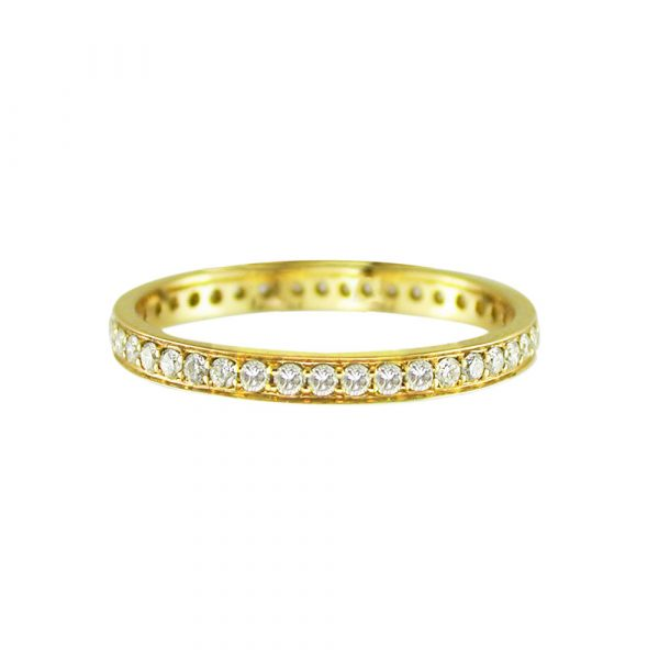 Diamond full eternity ring yellow gold