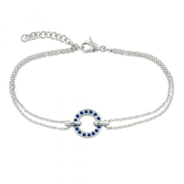 White gold bracelet with sapphires