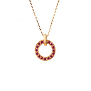 Ruby rose gold pendant