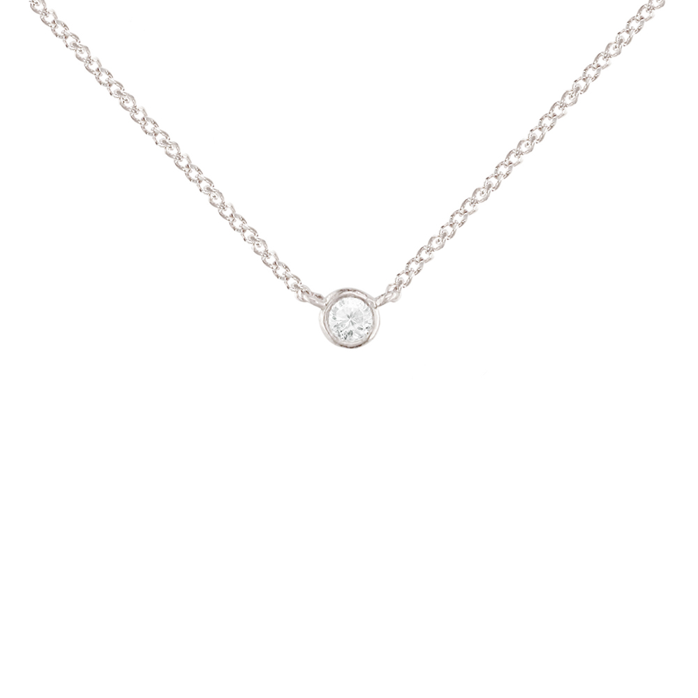 Diamond Raindrop Solitaire Rose Gold Pendant Necklace