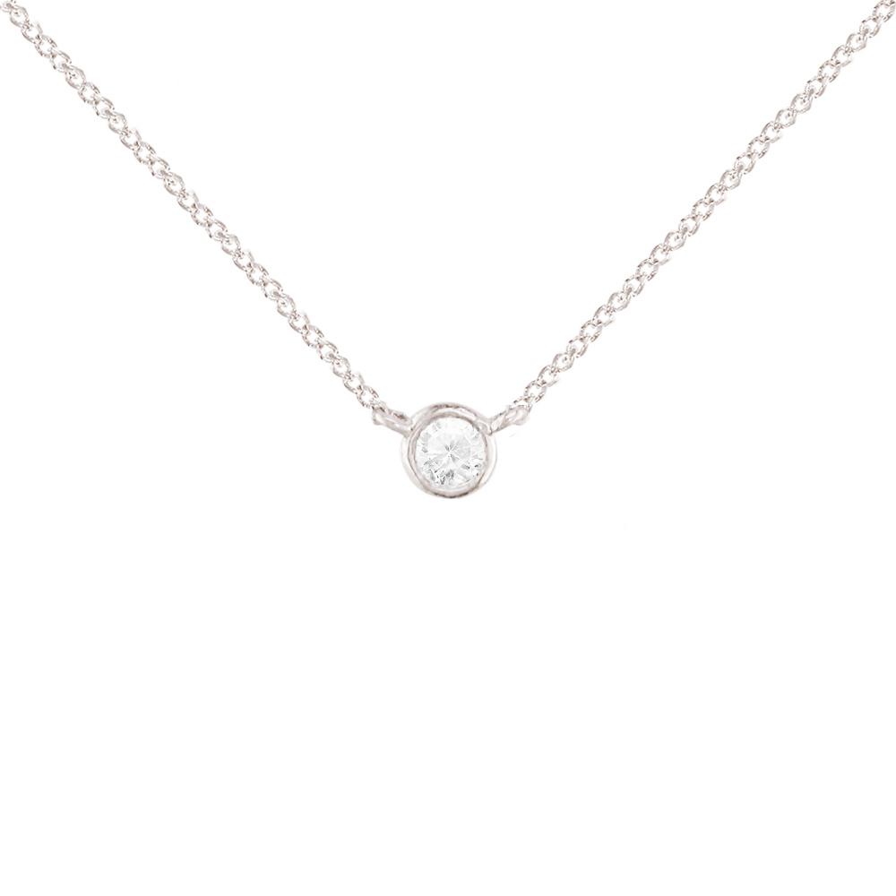 Diamond Raindrop Solitaire Rose Gold Pendant Necklace