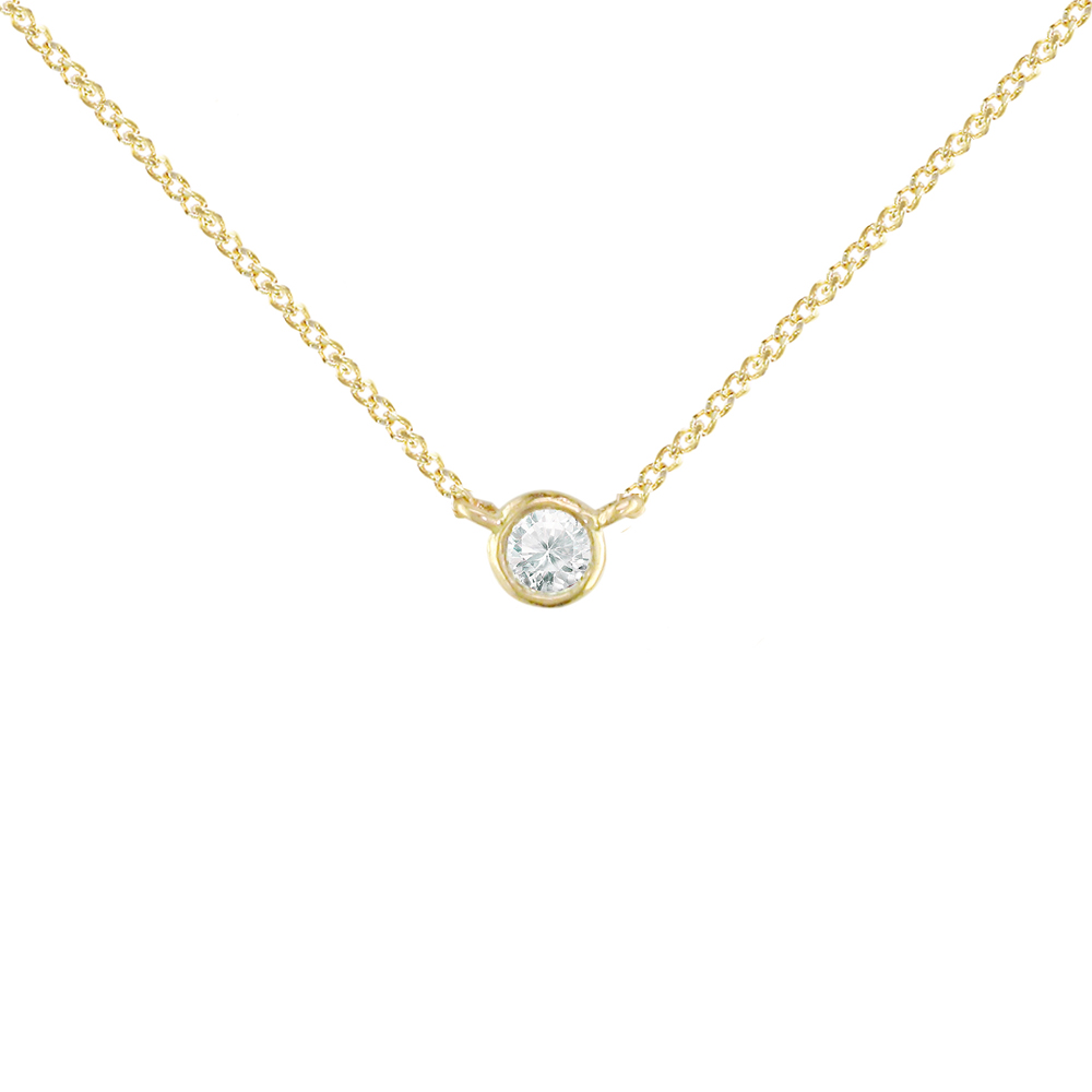 Yellow gold single diamond pendant london road jewellery aloadofball Choice Image