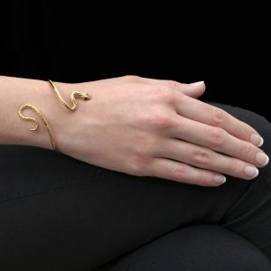 Yellow Gold and Ruby Kew Serpent Bangle