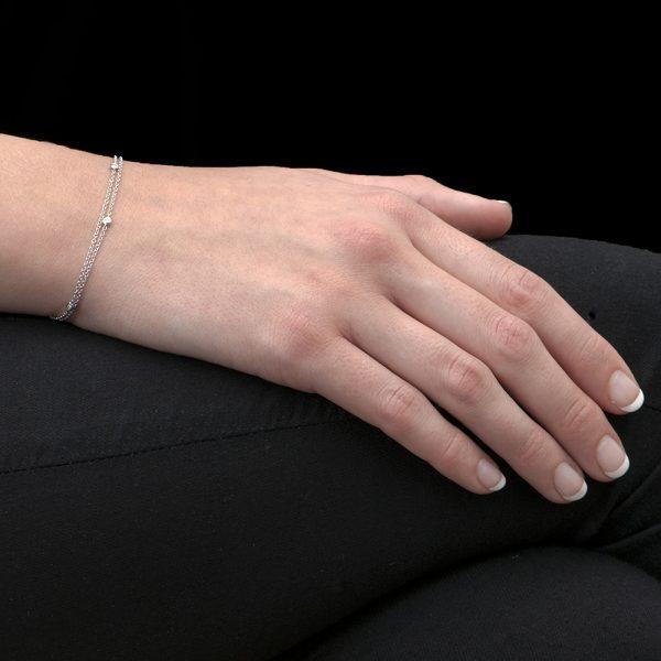 White Gold Raindrop Diamond Bracelet