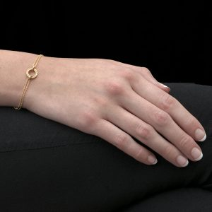 Yellow Gold Diamond Meridian Bracelet