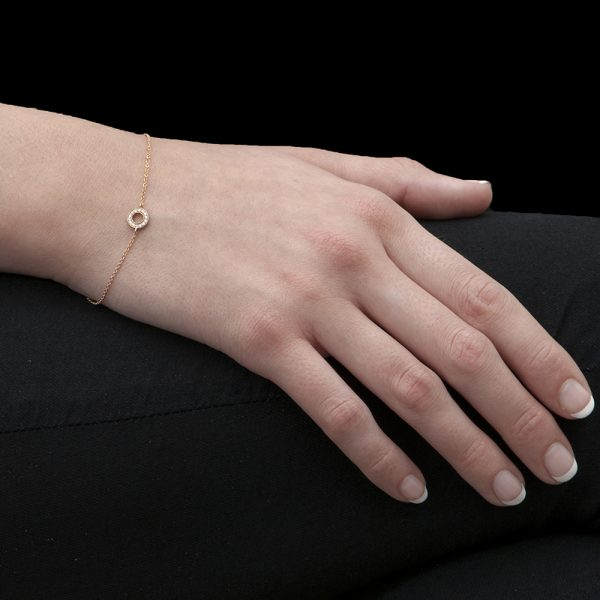 Rose Gold Diamond Meridian Bracelet