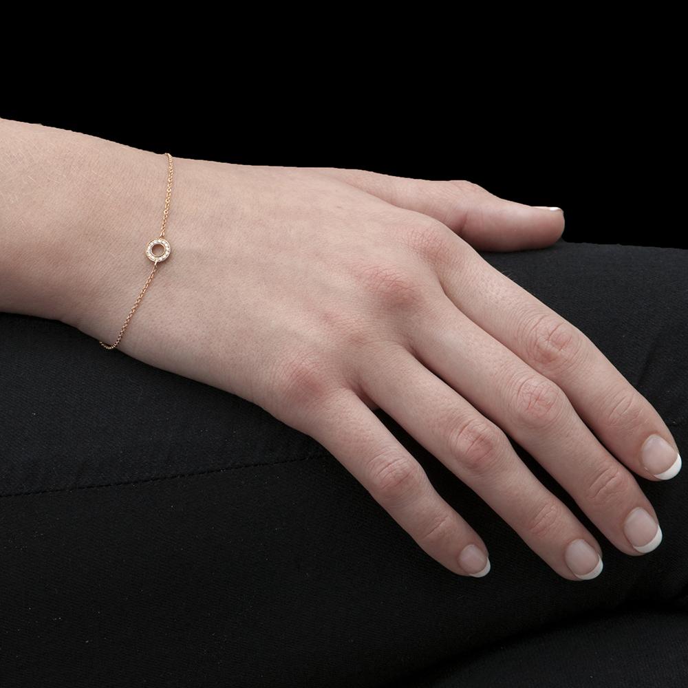 Rose Gold Diamond Meridian Bracelet