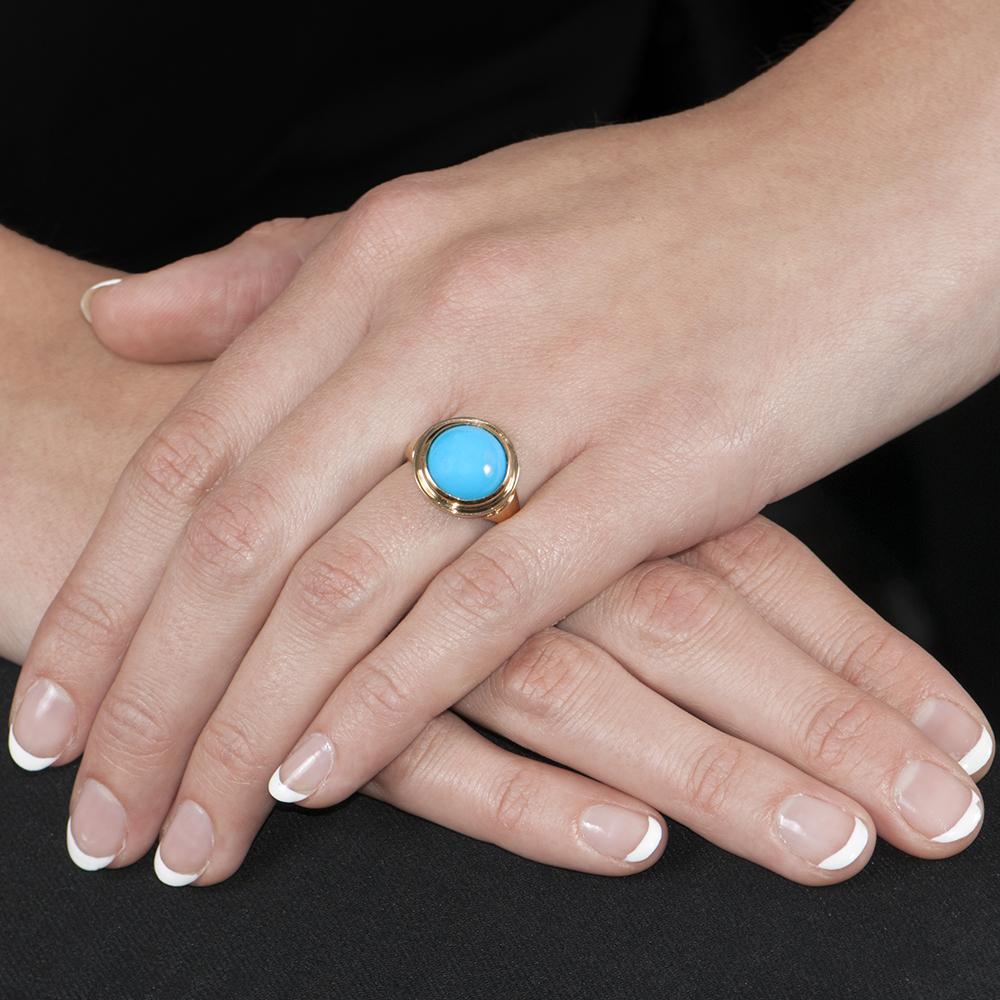 Designer Sloane Turquoise Ring - London Road Jewellery