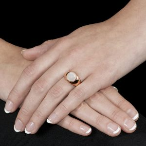 Rose Gold Moonstone Bubble Ring