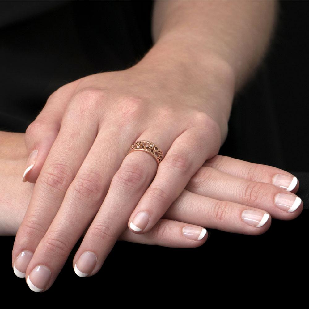 Rose Gold Bubble Diamond Ring