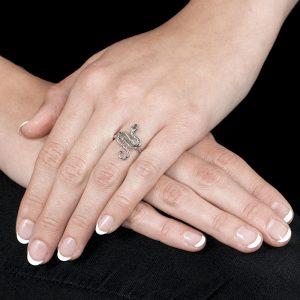Silver Kew Serpent Ring