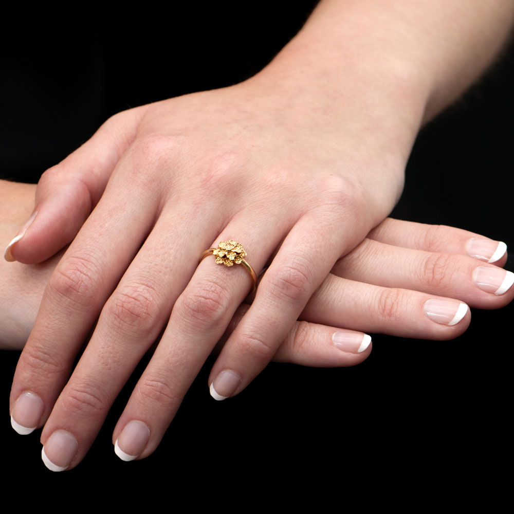 Yellow Gold Posy Ring