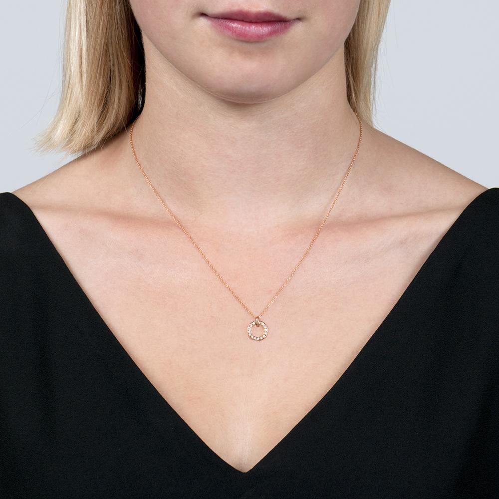 Rose Gold Diamond Meridian Pendant