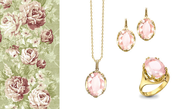 Yellow Gold Rose Quartz Cocktail Collection