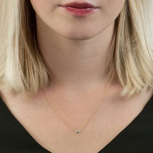 Yellow gold diamond raindrop pendant