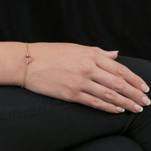 Rose gold ruby Meridian bracelet