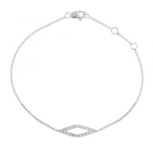White gold diamond Geo bracelet