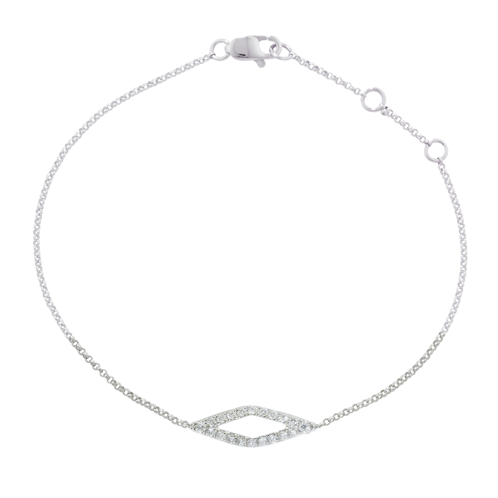 White gold diamond Geo bracelet