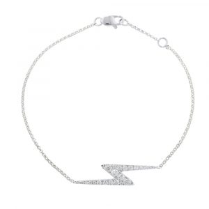 White gold diamond zig zag Geo bracelet