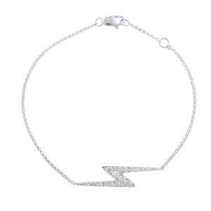 White gold diamond zig zag Geo bracelet
