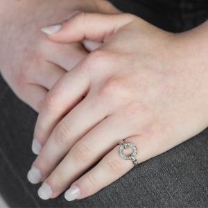 White gold diamond Meridian ring