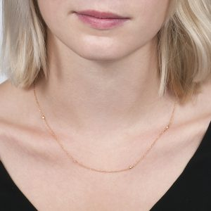 Rose gold diamond raindrop necklace