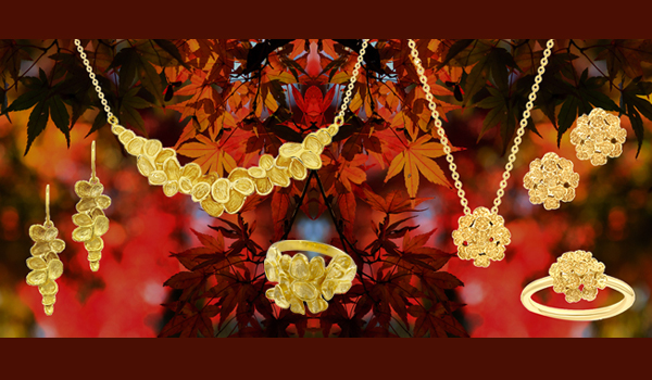 Yellow gold falling leaf Kew collection