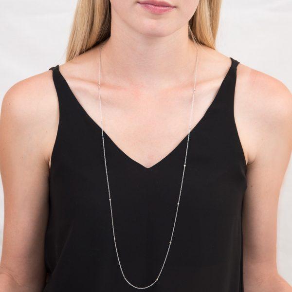 White gold diamond Raindrop necklace