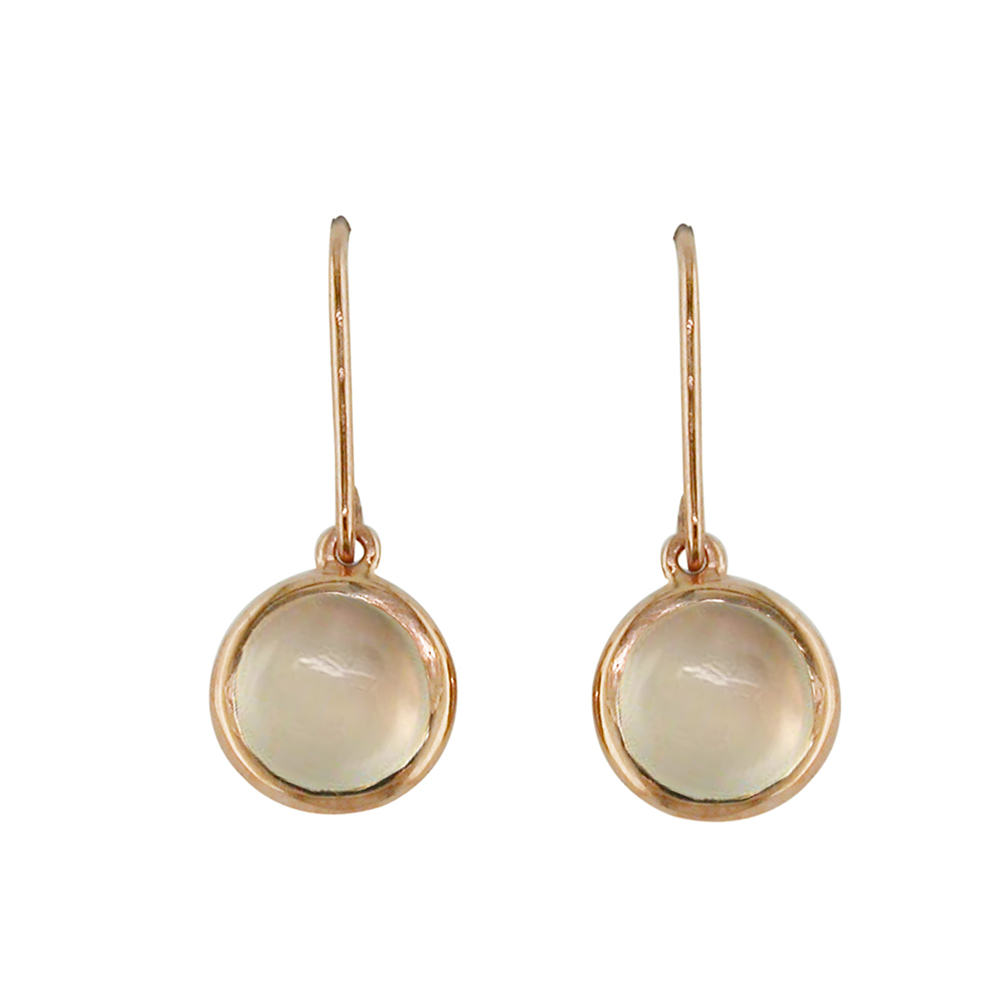 Rose gold moonstone drop Bubble earrings